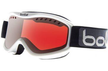 Bolle Carve Goggles, White Frame, Vermillon Gun Lens 20783