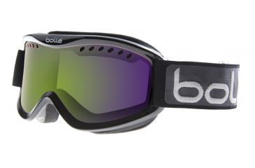 Bolle Carve Ski/Snowboard Goggles - Black Green Fade Frame and Green Emerald Lens 20993