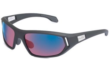 Bolle Cervin Sunglasses, Satin Dark Gray Frame, Rose Blue Lenses 11588