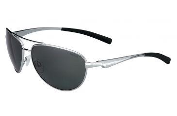 Bolle Columbus Single Vision Prescription Sunglasses, Shiny Silver Frame-11798SV