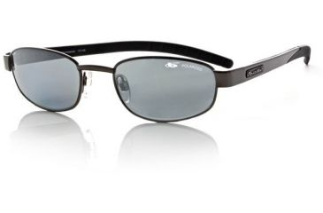 Bolle Demeanor Polarized Sunglasses, Satin Black Frame, Polarized TNS Gun Lens 10147