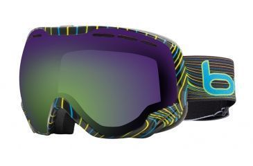 Bolle Emperor Ski/Snowboard Goggles - Blue and Green Waves Frame and Green Emerald Lens 20933