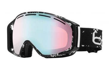 Bolle Gravity Ski/Snowboard Goggles - Black Caligraphy Frame and Modulator Vermillon Blue Photochromic Lens 20921