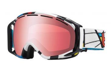 Bolle Gravity Ski/Snowboard Goggles - Tiki Mondrian Frame and Vermillon Gun Lens 20926