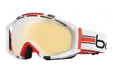 Bolle Gravity Ski/Snowboard Goggles - White Stripes Frame and Amber Gun Lens 20925