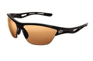 Bolle Helix Sunglasses, Shiny Black Frame, Photo Amber Lens, 11455
