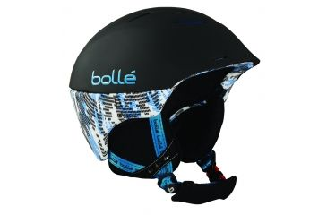 Bolle Helmet, Synergy Soft Black and Blue for 58-61cm Goggle 30506