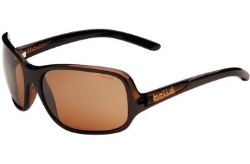 Bolle Kassia Sunglasses, Polarized Sandstone Gun Oleo AF, Shiny Chocolate / Translucent Brown 11750