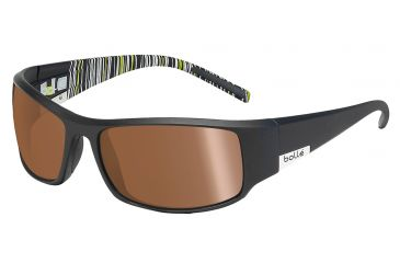 Bolle King Single Vision Prescription Sunglasses, Matte Black Frame-11687SV