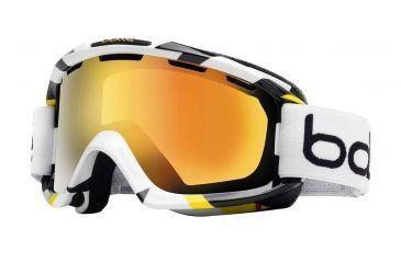 Bolle Nova Ski/Snowboard Goggles - Black and White Flash Frame and Fire Orange 35 Lens 20956