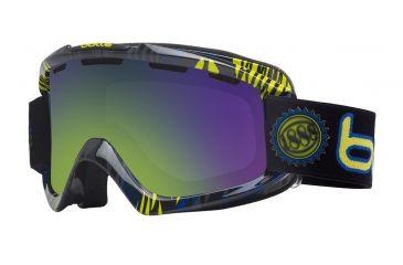 Bolle Nova Ski/Snowboard Goggles - Blue and Green Zebra Frame and Green Emerald Lens 20965