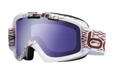 Bolle Nova Ski/Snowboard Goggles - White Diamond Frame and Aurora Lens 20954