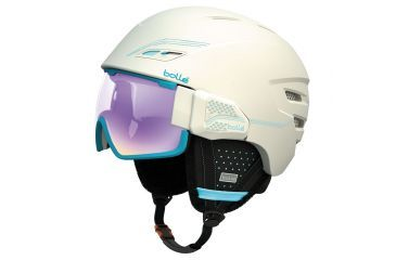 Bolle Osmoz Helmet, Soft White and Blue with Aurora Lens, 54-58cm 30638
