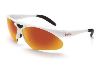 Bolle Parole Sun glasses, Shiny White Frame, TNS Fire Lens 11442