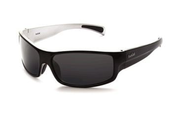 Bolle Piranha Jr. Sun Glass, Black/Silver Frame, TNS Lens, 11404