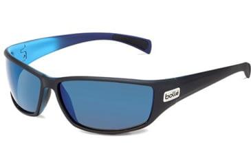 Bolle Python Progressive Prescription Sunglasses - Matte Black/Blue Frame 11693PRG