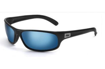 Bolle Anaconda Sunglasses Shiny Black Frame Polarized Off Shore BlueLens 11055
