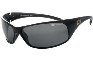 Bolle Snakes Recoil Sunglasses 10405 Shiny Black Frame, Polarized TNS Lens