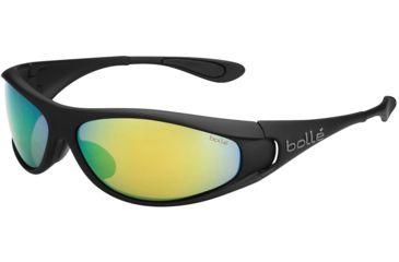 Bolle Spiral Sunglasses, Polarized Brown Emerald Oleo AF, Matte Black 11815