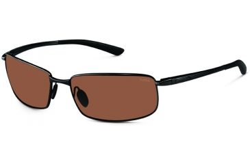 Bolle Sunglasses, Benton Satin Black Frame Polarized A-14 Lens 11566