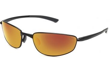 Bolle Sunglasses, Del Mar Satin Black Frame Polarized TNS Fire Lens 11562