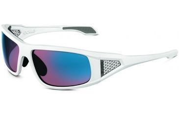 Bolle Sunglasses, Diablo Shiny White Frame Rose Blue Lens 11557