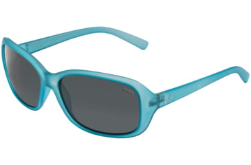 Bolle Sunglasses, Molly Satin Crystal Blue Frame Polarized TNS Lens 11519