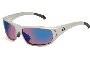 Bolle Sunglasses, Ouray Holographic Silver Frame Rose Blue Lens 11545