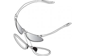 Bolle Blank Prescription Rx Adapter for Bolle SwiftKick Sunglasses 50072 - CR-39 Clear Lens