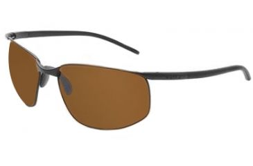 Bolle Tempo Sunglasses Brown Leather Frame Tlb Dark Lens 11047