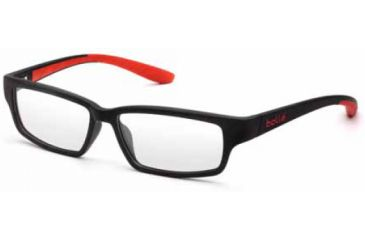 Bolle Volnay Eyeglasses w/ Lined RX Bifocal Lenses, Shiney Black / Red Frames