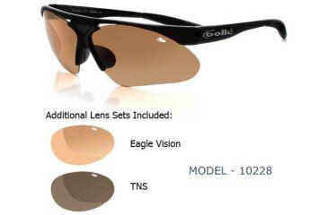 Bolle Parole Golf Sunglasses - Matte Black Frame w/ 3 lenses - EagleVision 2, EagleVision 2 Dark, TNS Smoke