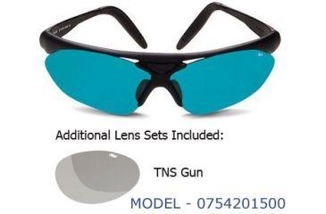 Bolle Sport Parole Black Sunglasses, Competivision and TNS Gun Lens Sets
