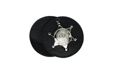 Boston Leather 3 1/2in Round Badge Holder, Swi - 5889-1