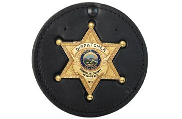 Boston Leather Badge Holder - 600-B691