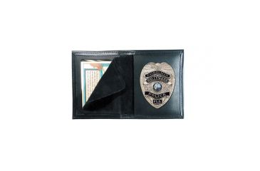 Boston Leather Book Style Badge Case Recessed - 100-4086