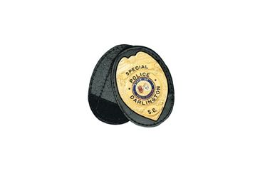 Boston Leather Oval Recess. Badge Holderclip. - 700-4040