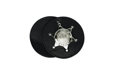 Boston Leather Round Clip-on Badge With Vel 3'' - 5889-3