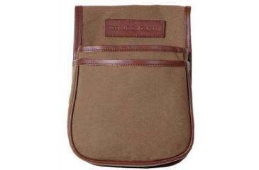 Boyt Harness Estancia Series Leather Canvas Trap Skeet Pouch, Khaki 12002