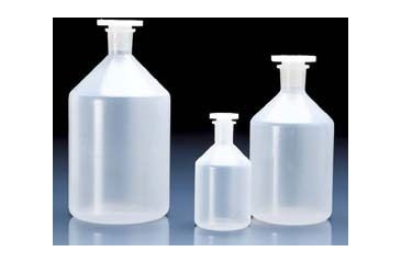 BrandTech Reagent Bottles with Stoppers, Polypropylene, Narrow Mouth, BrandTech V100794