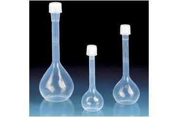 BrandTech Volumetric Flasks with Screw Caps, PFA, Class A, BrandTech V107497