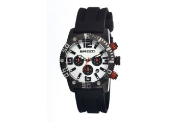 Breed 1108 Agent Mens Watch, White BRD1108