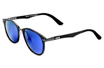 1e4defb1e5ba Breed Cetus Sunglasses, Gunmetal Titanium Frame, Purple-Blue Lens BSG027GM