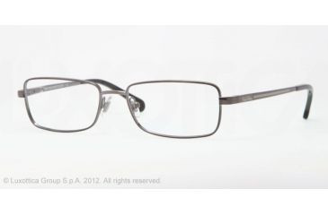 Brooks Brothers BB 1012 BB1012 Single Vision Prescription Eyeglasses 1150-54 - Gunmetal Frame, Demo Lens Lenses