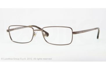 Brooks Brothers BB 1012 BB1012 Single Vision Prescription Eyeglasses 1161-54 - Brown Frame, Demo Lens Lenses