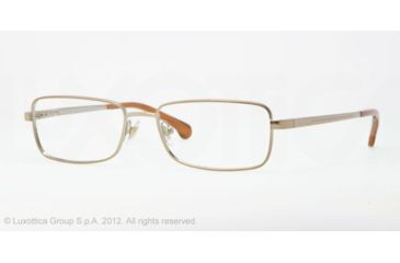 Brooks Brothers BB 1012 BB1012 Single Vision Prescription Eyeglasses 1197-54 - Taupe Frame, Demo Lens Lenses