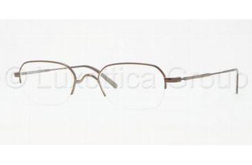 Brooks Brothers BB 1013 BB1013 Single Vision Prescription Eyeglasses 1307-4820 - Brown Frame