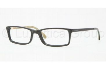 Brooks Brothers BB 2009 BB2009 Progressive Prescription Eyeglasses 6053-5217 - Black / Horn Frame, Demo Lens Lenses