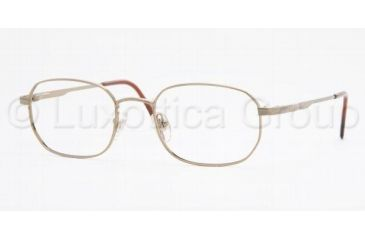 Brooks Brothers BB 222 Eyeglasses Styles Gold Frame w/Non-Rx 52 mm Diameter Lenses, 1148-5219, Brooks Brothers BB 222 Eyeglasses Styles Gold Frame w/Non-Rx 52 mm Diameter Lenses