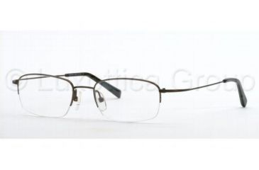 Brooks Brothers BB 393T Eyeglasses Styles, Black Frame w/Non-Rx 52 mm Diameter Lenses, 1225T-5218
